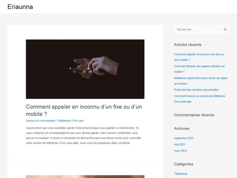 L'Eriaunna est sur le web francophone
