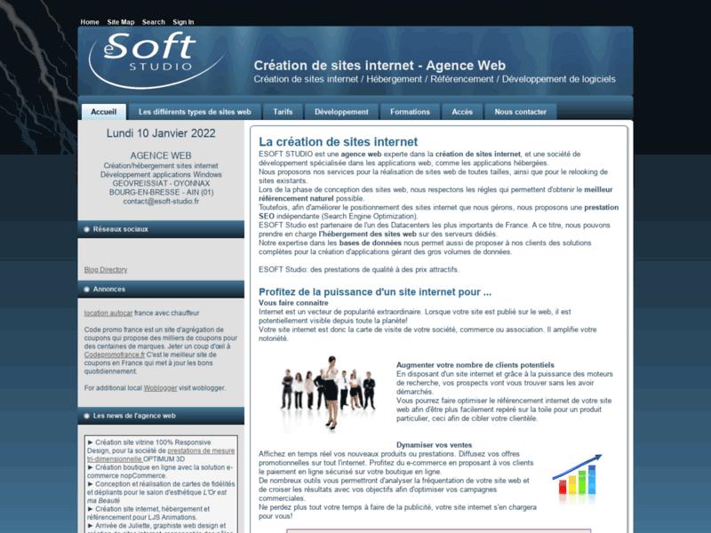 ESOFT Studio, création de site web