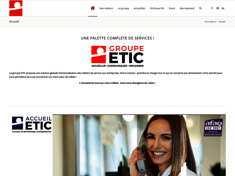 Etic-groupe : Hôtesses d'accueil qualifiées