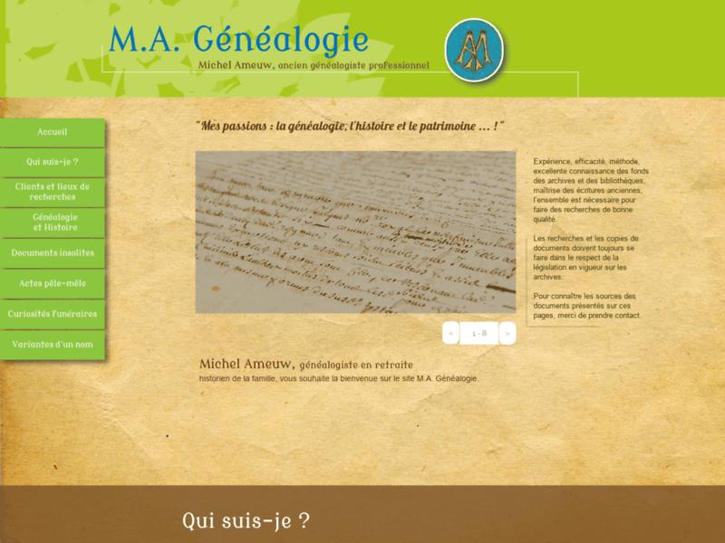 M.A. Généalogie