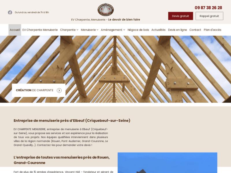 EV Charpente Couverture, fabrication escalier Rouen
