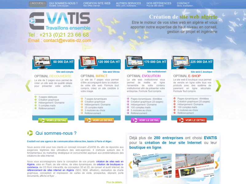 Création et conception site web Algérie