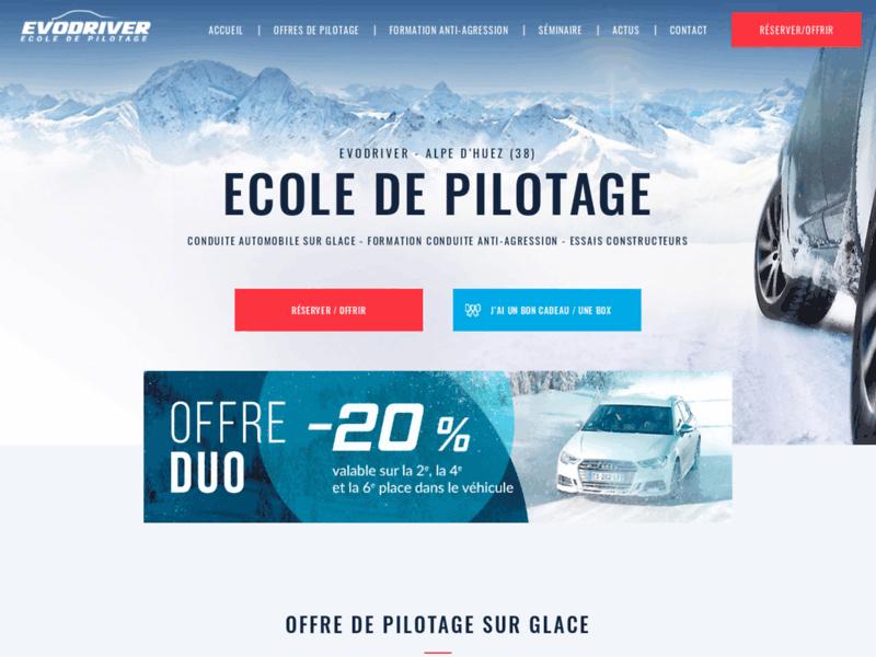 Evodriver : Pilotage et conduite automobile sur la glace