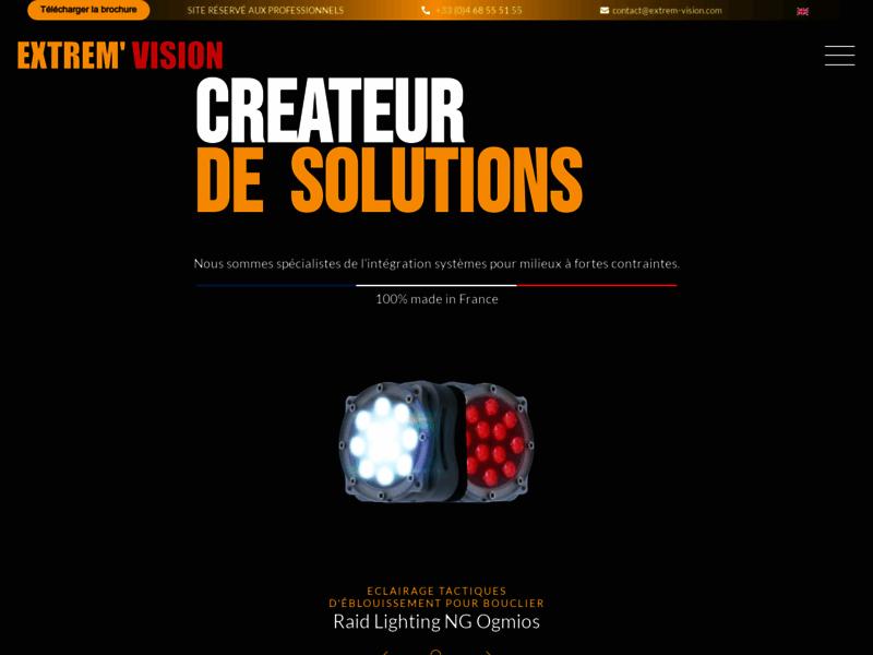 Extrem' Vision, matériels optiques en milieux extrêmes