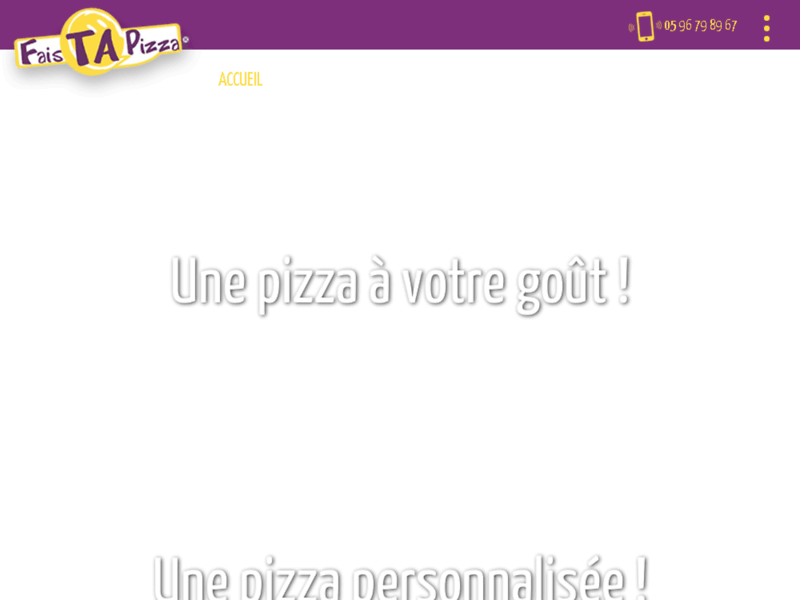 Screenshot du site : Pizzeria Martinique