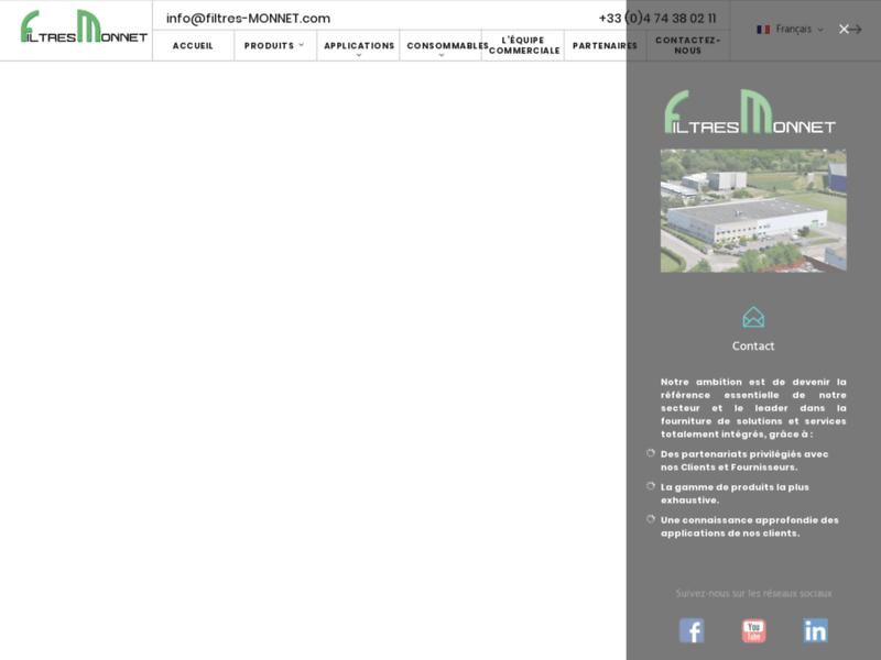 Filtration industrielle : Filtres Monnet