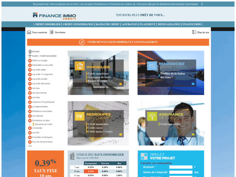 Finance Immo : Crédit immobilier