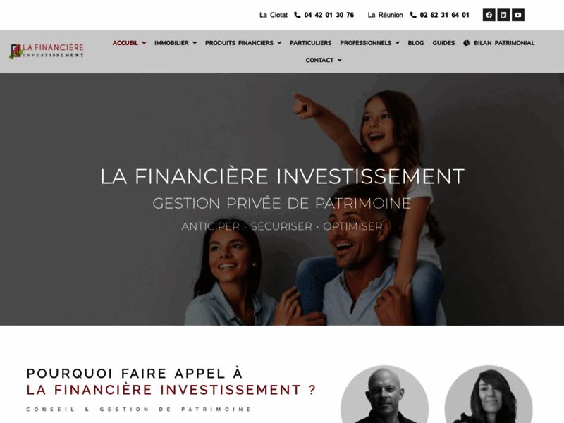Financière investissement, cabinet de gestion de patrimoine