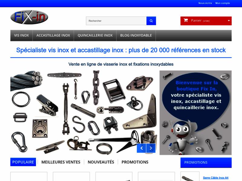 Fix-in Visserie Boulonnerie et Accastillage Inox