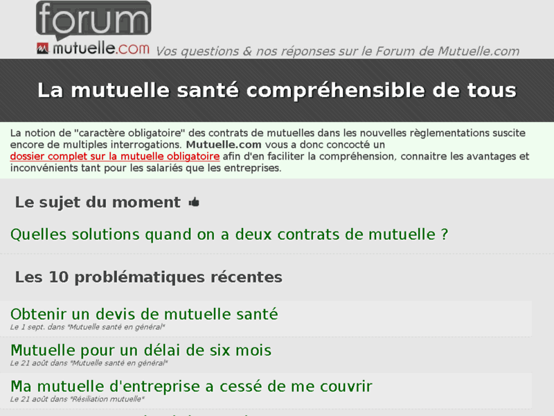 Mutuelle forum