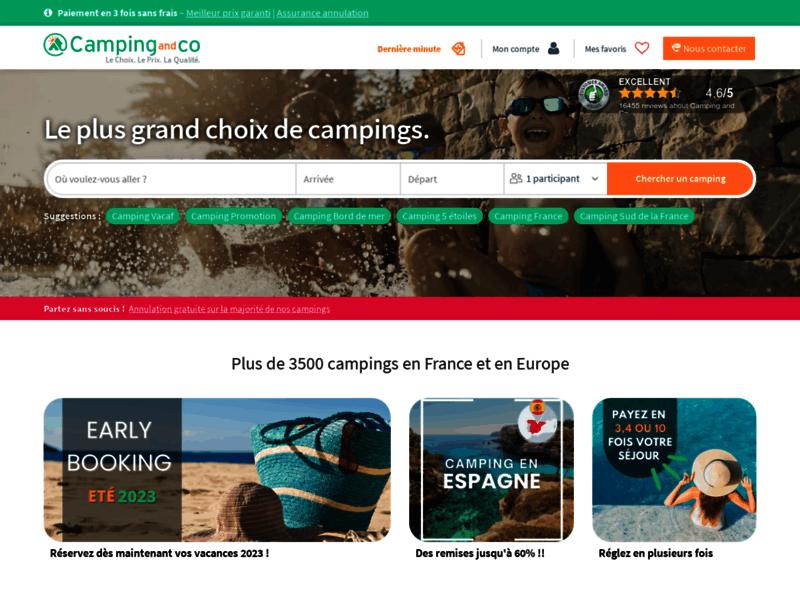 Camping-and-co, campings en France et en Europe