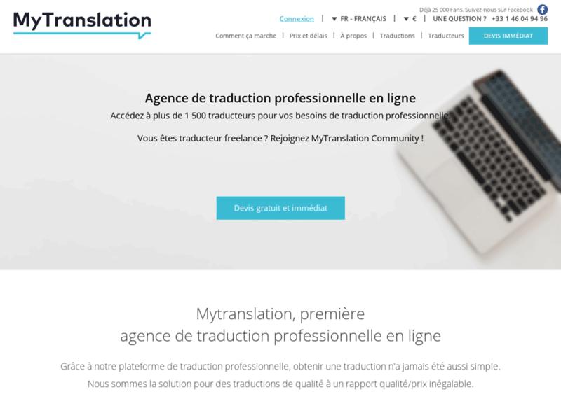 Mytranslation : Agence de traduction professionnelle en ligne