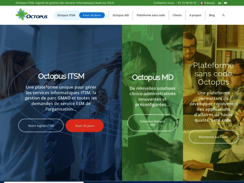 Octopus-ITSM, logiciel intégré ITSM et GMAO