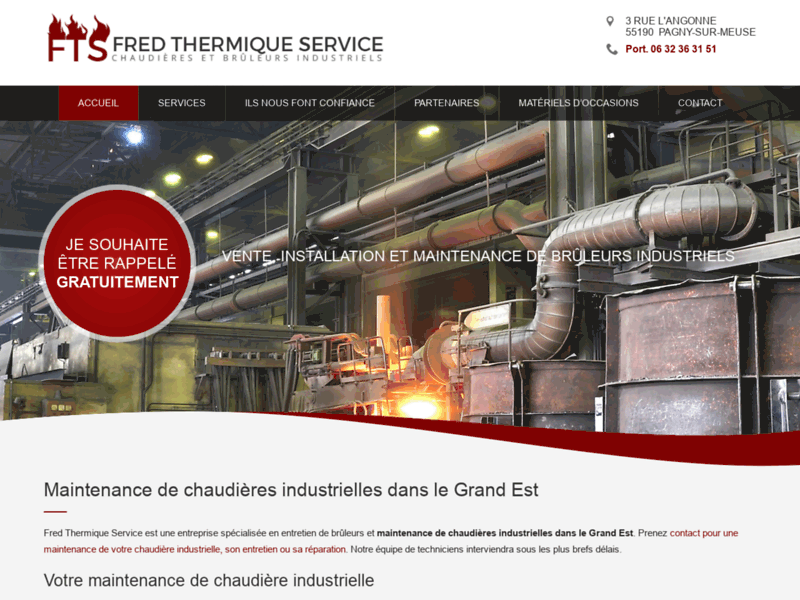 Fred Thermique, réparation et entretien de chaudière industrielle