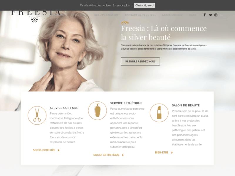 Esthéticienne pour maison de retraite et Ehpad Ile de France-Freesia