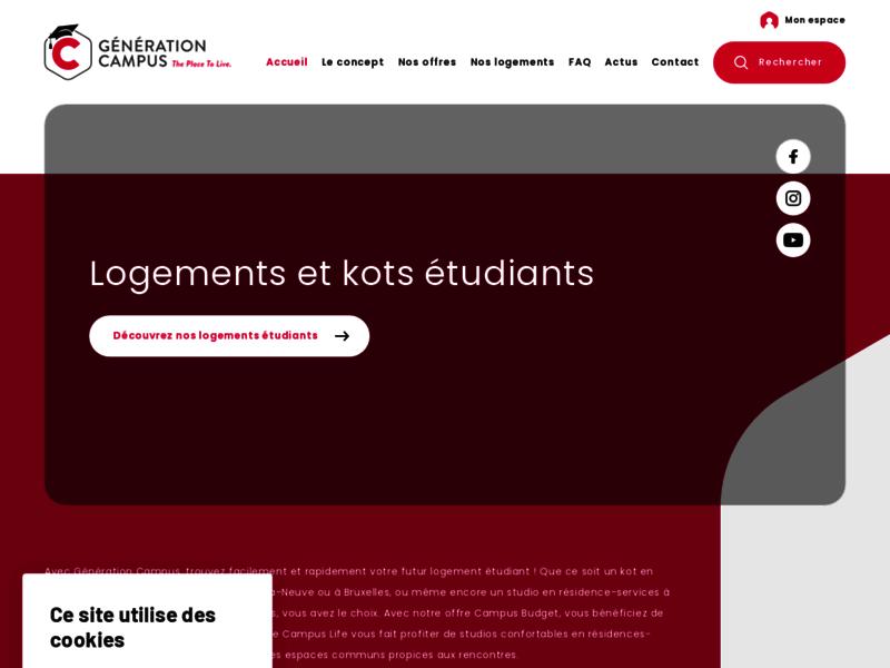 Génération Campus, logements pour les étudiants