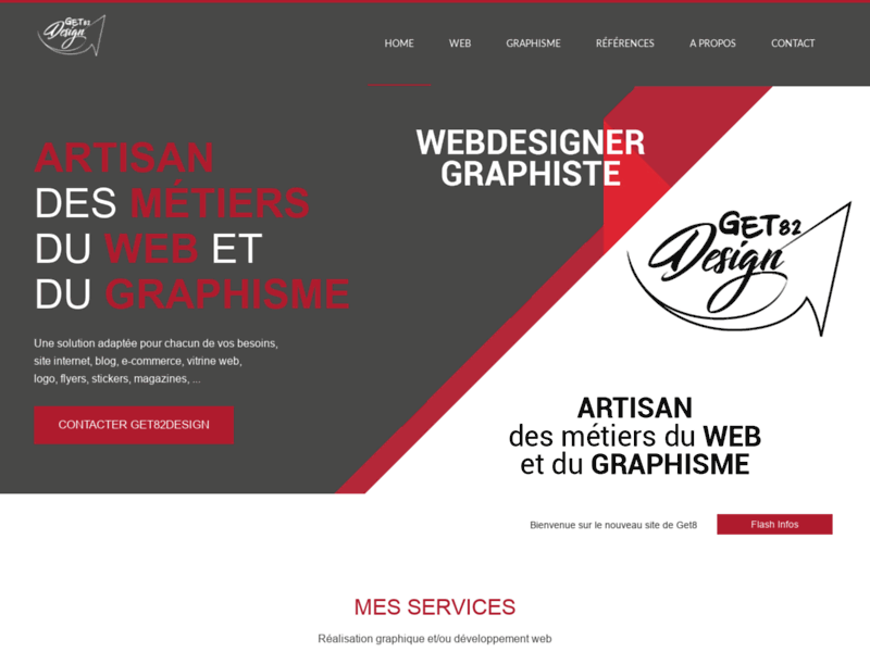 Get82Design, développeur et intégrateur web, conceptions graphiques dans le Tarn-et-Garonne