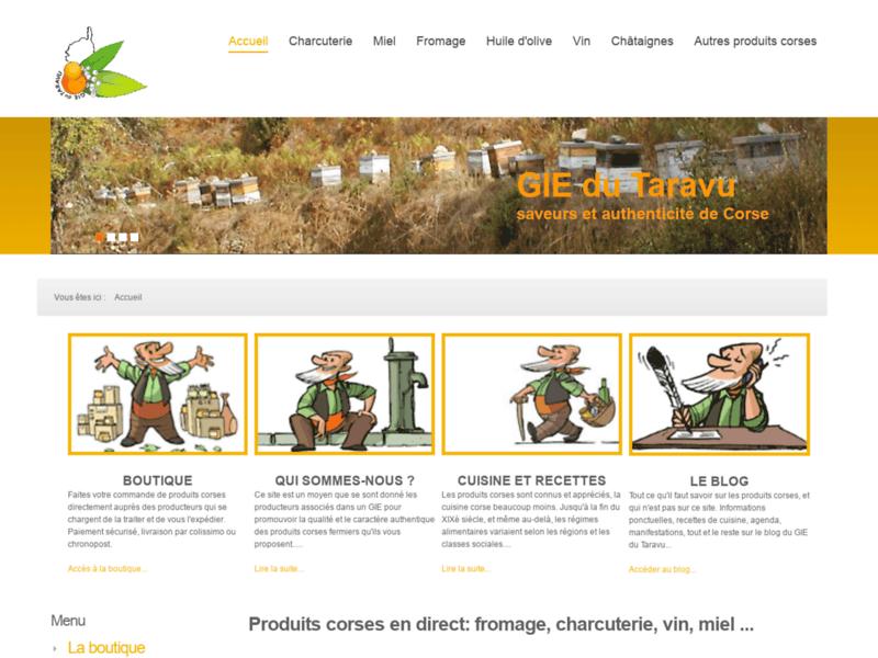 GIE du Taravu, produits corses en ligne