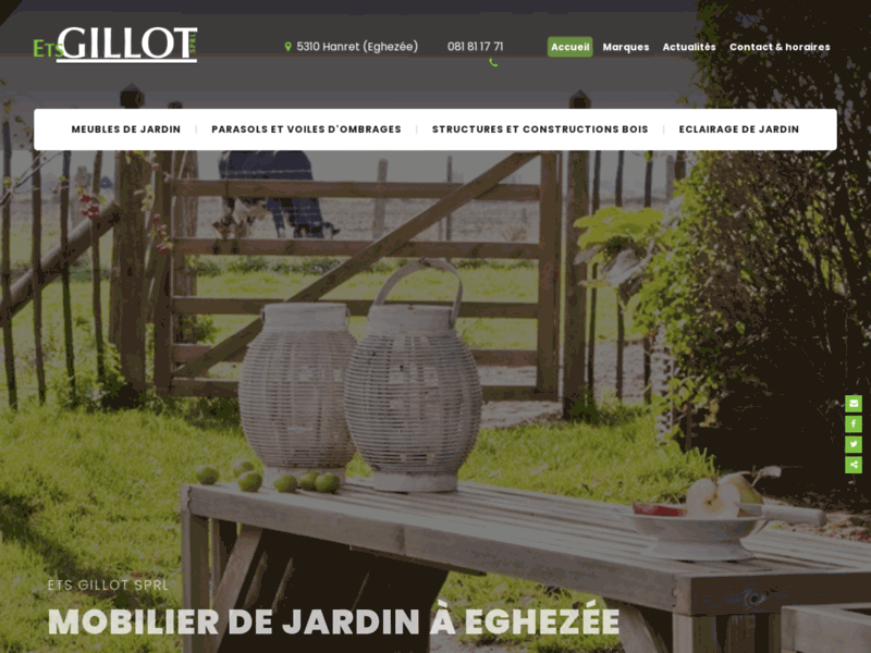 Meubles de jardin Gillot à Namur