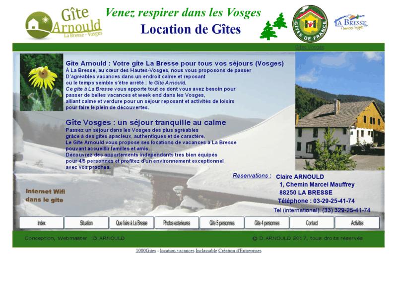 Location d'un Gîte La Bresse : le Gîte Arnould