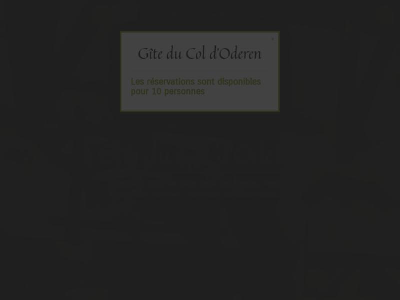 Gîte Vosges : Gîte du Col d'Oderen