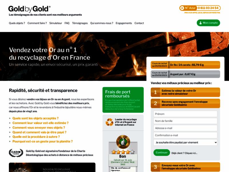 Gold by Gold achète or et argent