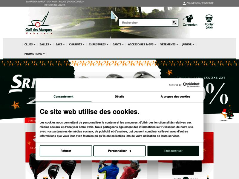 Golf des marques, achat de matériel de golf
