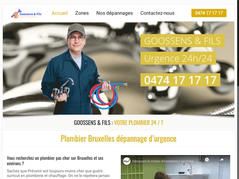 SOS chauffagiste plombier autour de Bruxelles
