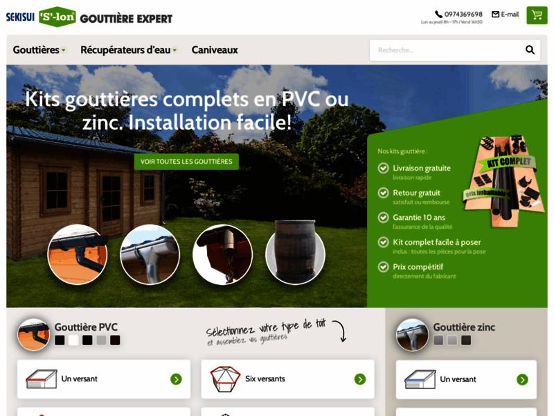 Gouttière Expert – Gouttières &  Récupérateurs d'eau