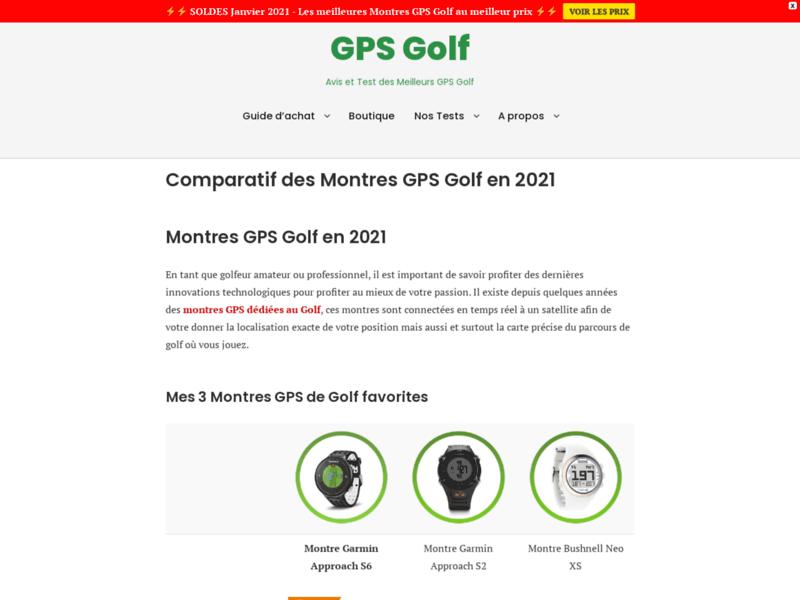 Comparatif des Montres GPS pour le Golf en 2016