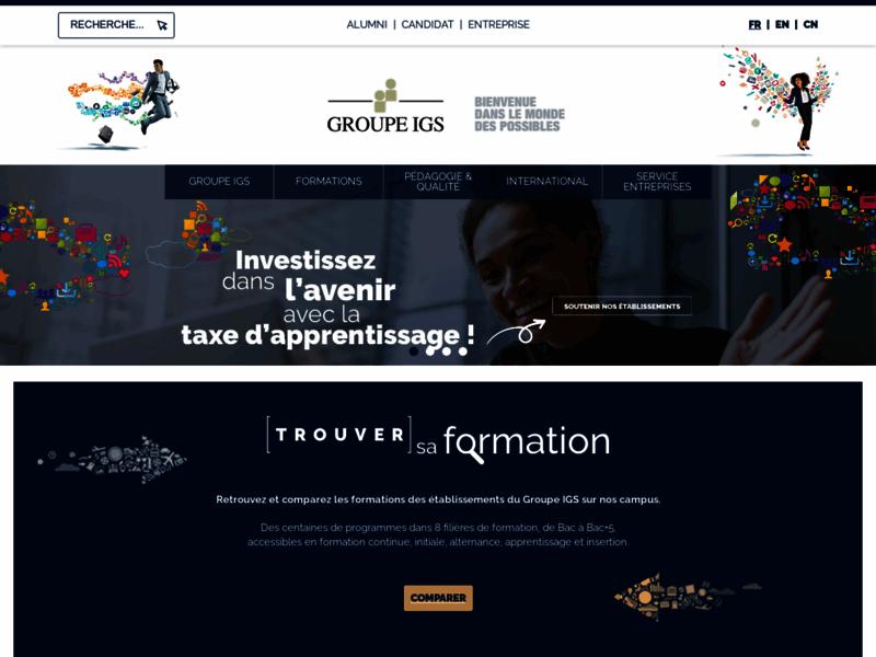 Groupe IGS, 9 filières de formations à Paris