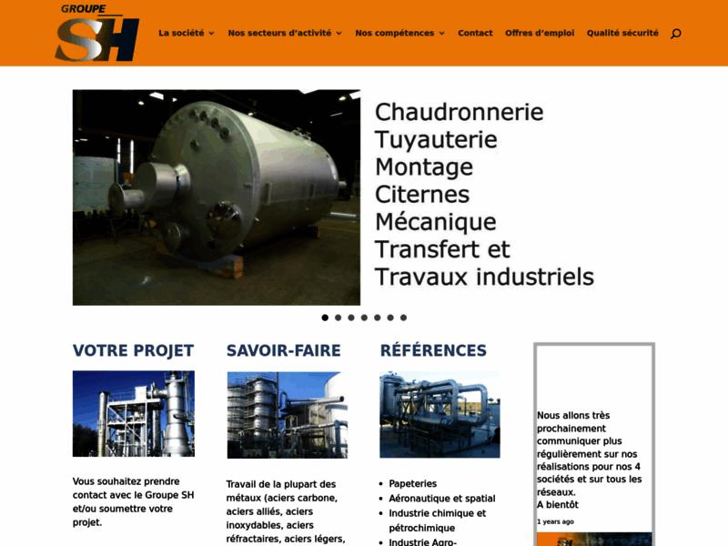 Groupe Sirech-Hostier : chaudronnerie, tuyauterie, montage, citernes