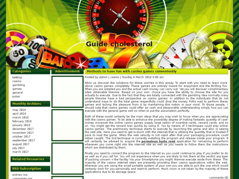 Guide Cholesterol