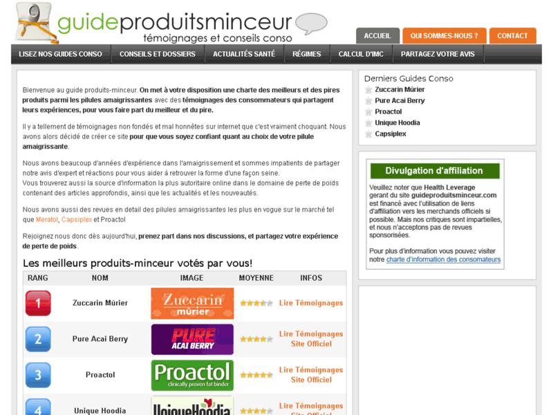 Guide Produits Minceur