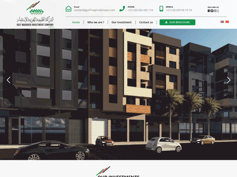 Screenshot du site : real estate investment company morocco