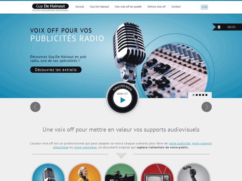 Voix off de qualité - Guy De Hainaut