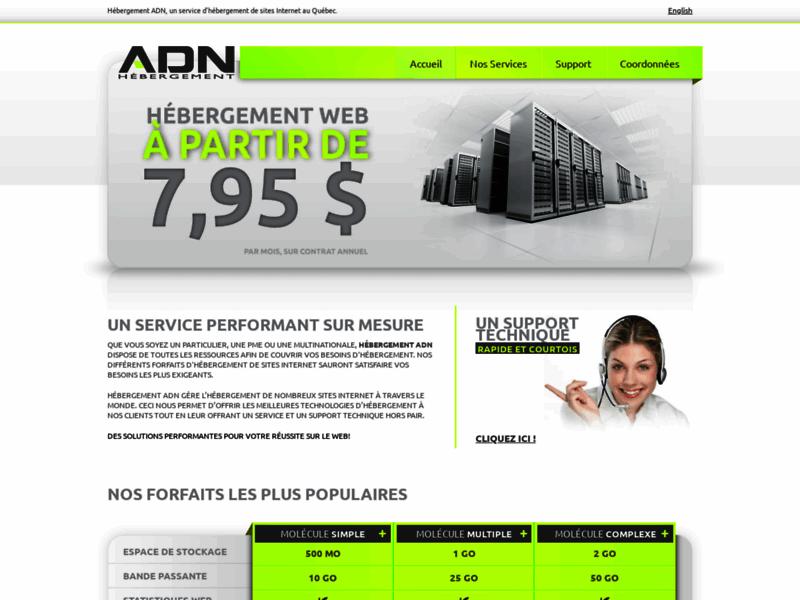 Hébergement ADN, hébergement internet au Québec