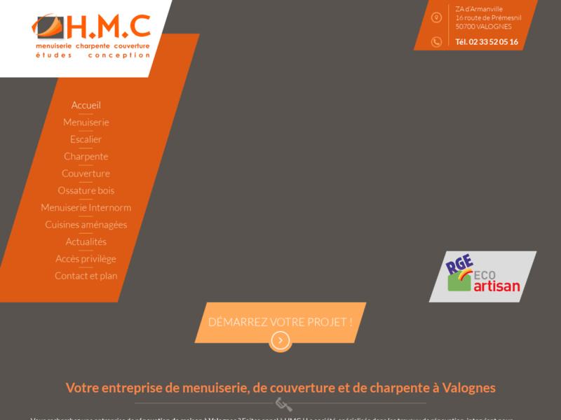 HMC, entreprise de menuiserie, charpente et couverture, Brix