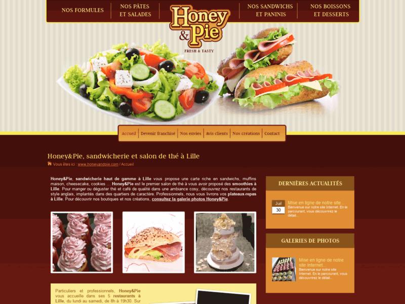 Honey&Pie, Sandwichs à Lille