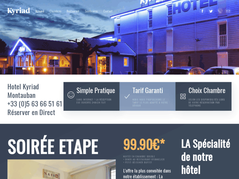 Hotel Kyriad 2 étoiles à Montauban