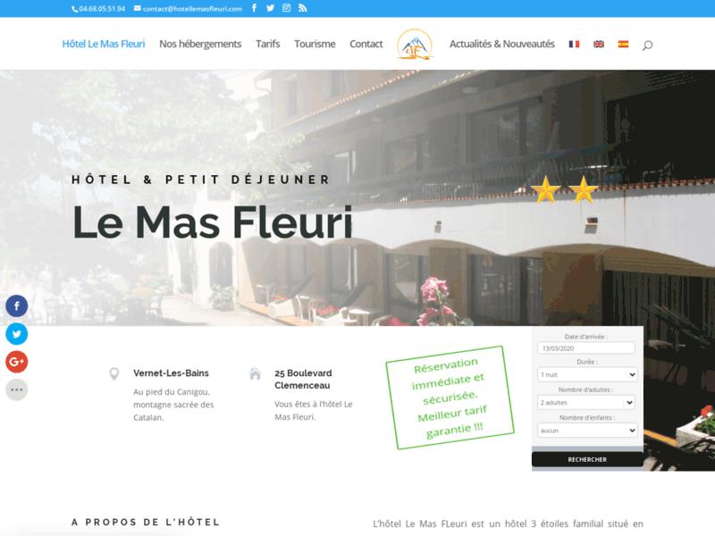 Hôtel Le Mas Fleuri à Vernet les Bains