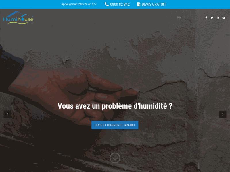 HUMIHOUSE : traitement de l'humidité en Belgique et au Luxembourg