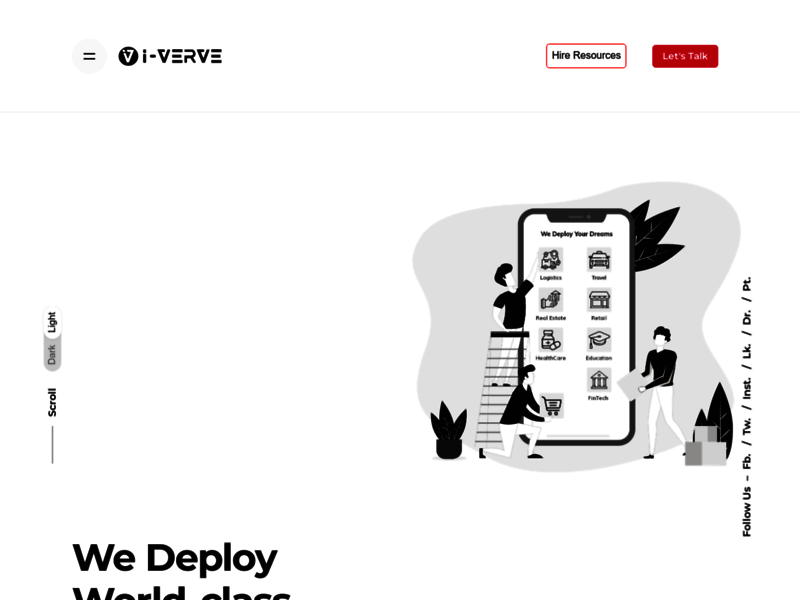 Website's screenshot : React Native App Development Company - i-Verve Inc