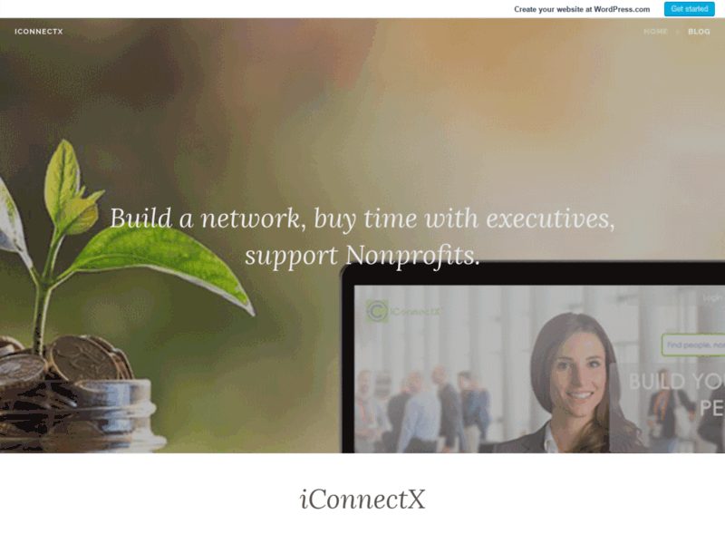 Website's screenshot : Nonprofits, People, Events & Auctions - iConnectX