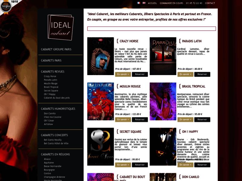 Idéal Cabaret : réservation de cabaret Paris