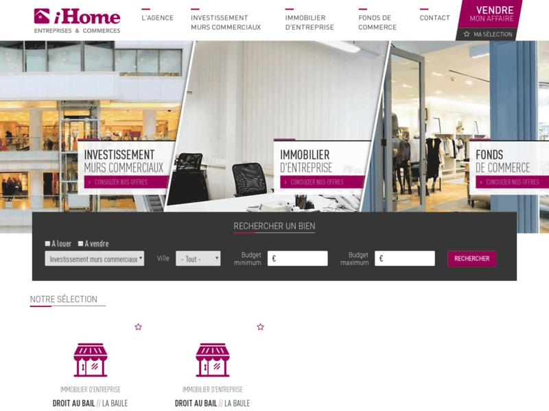 iHome: vente commerces et entreprises