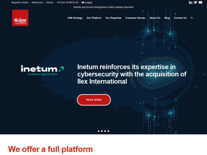 Ilex International, logiciels de gestion des identités et accès
