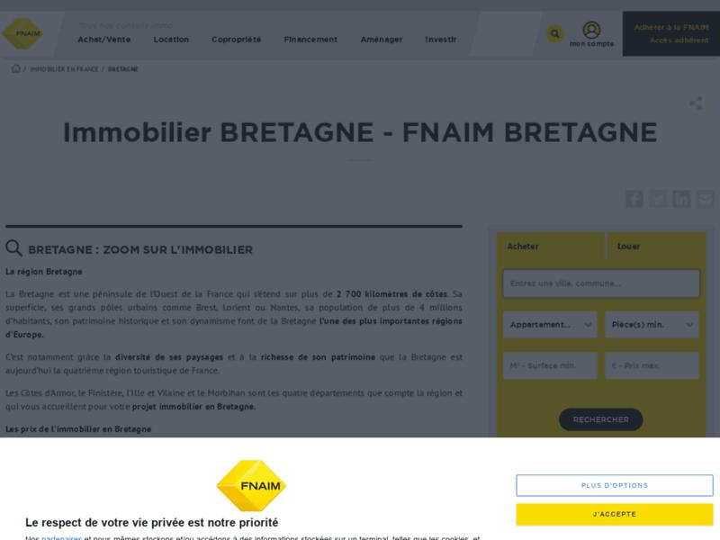 Immobilier Bretagne avec la Fnaim