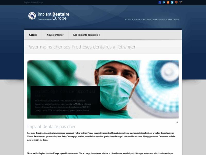 Implant dentaire Europe implants Espagne