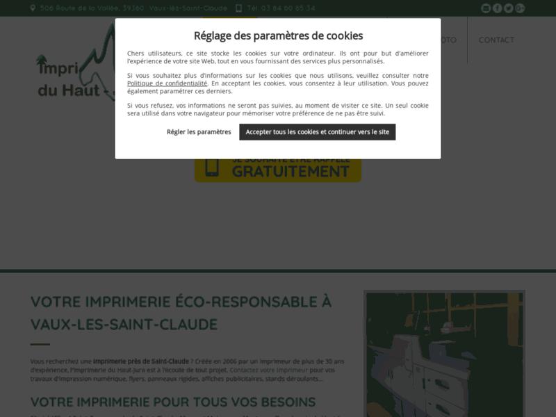 Imprimeurs professionnels à votre service ! Imprimerie du Haut-Jura.